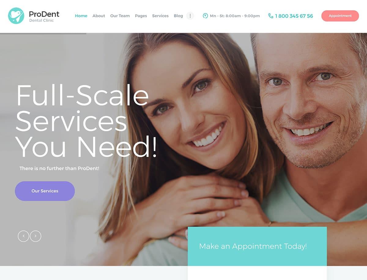 ProDent-Dental-Clinic-WordPress-Theme